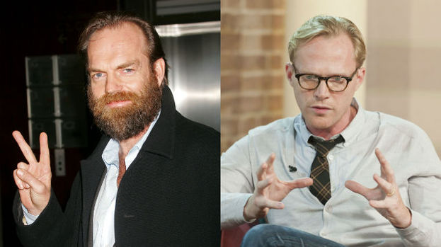 Hugo Weaving and Paul Bettany