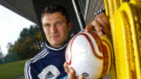 Hearts striker John Sutton, November 2012.