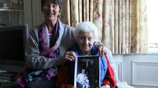 In memory: Bessie Holden and her daughter Pearl remember the husband and father they lost lost in the war.