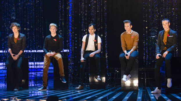 Cool little young things: One Direction performed their new single, Little Things