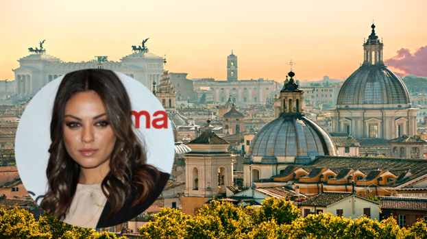 Mila Kunis attends Haiti benefit in Rome.