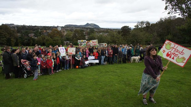 Craighouse protest