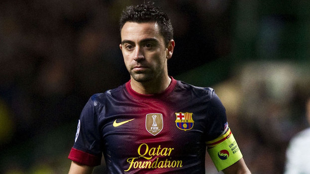 Xavi Hernandez in action for Barcelona