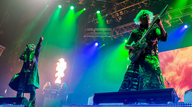 Arms race: Rob Zombie and John5 on the Twins of Evil tour in Last Vegas in September