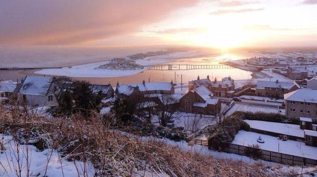 Lossiemouth Winter Scene