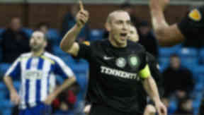 Celtic's Scott Brown celebrates opening the scoring.