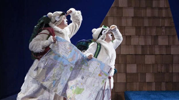 Eilidh MacAskill and Fiona Manson present their polar bear adventure story, Christmas show for children