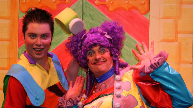David Wallace and Alan Orr in 25th anniversary PACE panto, jack and the Beanstalk