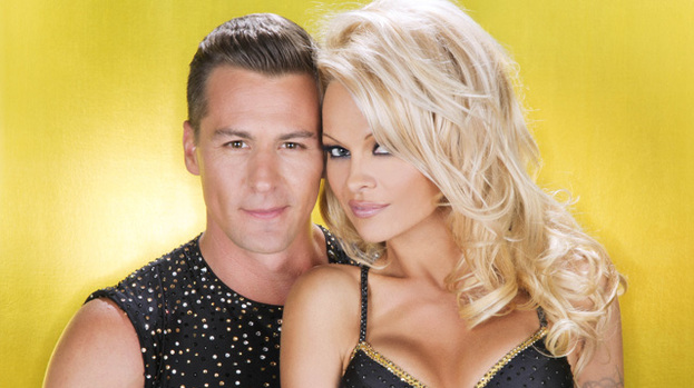 Ice to see you: Pamela Anderson with dance partner Matt Evers