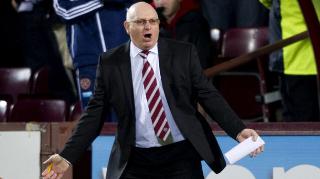 Hearts manager John McGlynn wasn't happy with a draw.
