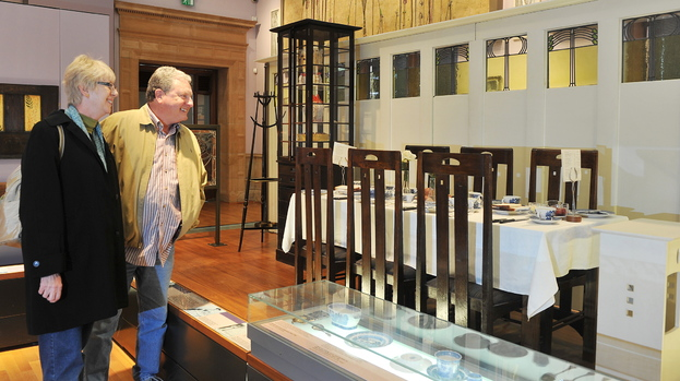 People admire collections in Glasgow museums