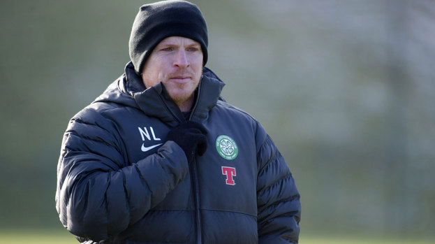 Celtic manager Neil Lennon arrives for training as he prepares his team for the visit of Hearts in the SPL.