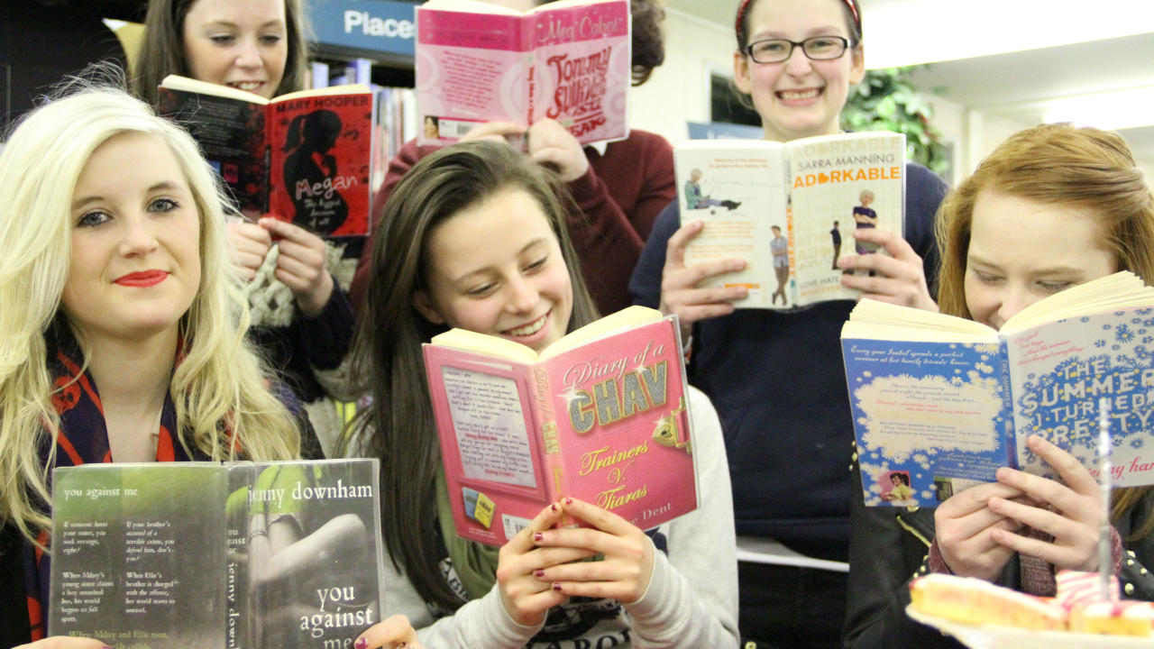 Glitz and glamour group bring girls back into the reading fold | 1280 x 720 jpeg 166kB