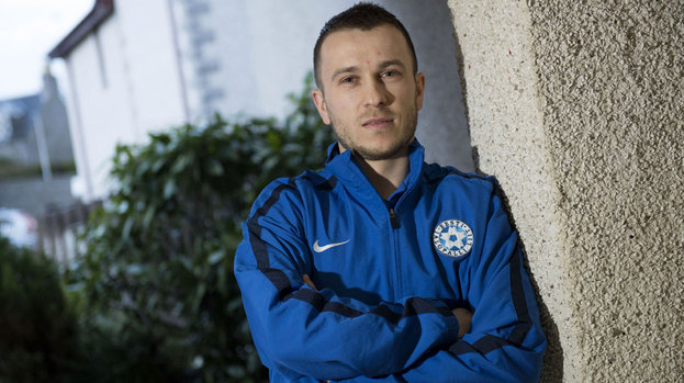 One-time Glasgow Rangers target Enar Jaager gets ready to help Estonia take on Scotland in a friendly