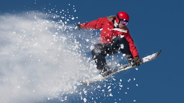 Snowboarder image to promote Scotland's Best Outdoors