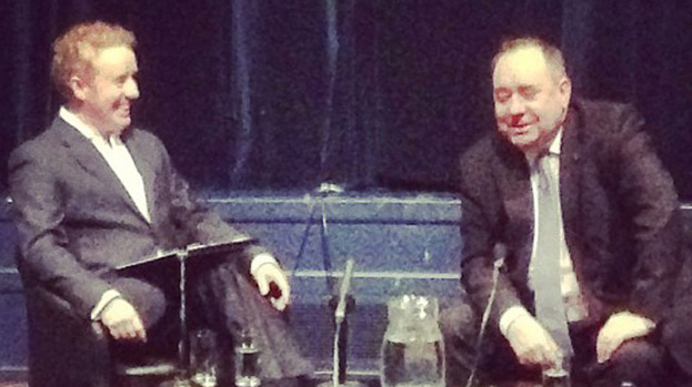 Mark Millar with First Minister Alex Salmond at the Geek Night Special