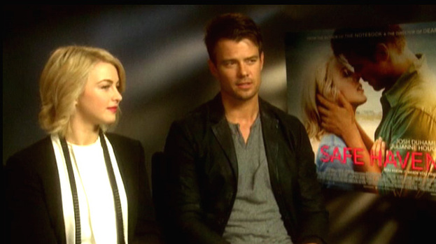 Josh Duhamel and Julianne Hough discuss finding their Safe Haven