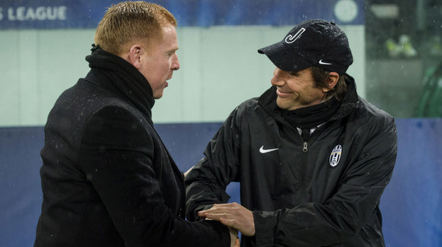 Photo of Antonio Conte & his friend  Neil Lennon