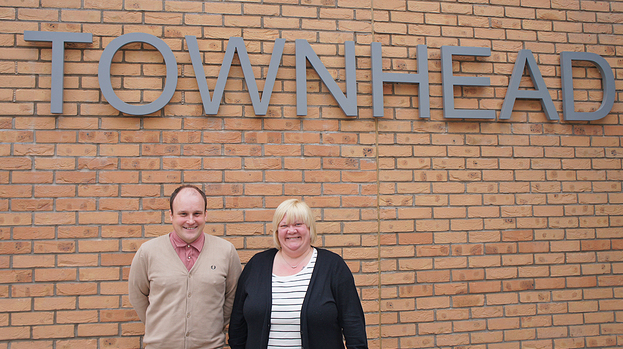 Paul Irwin and Sheena Duff of Townhead Village Hall.