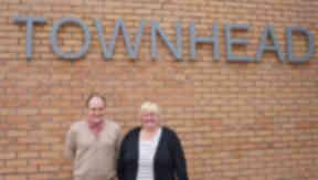 Paul Irwin and Sheena Duff of Townhead Village Hall.