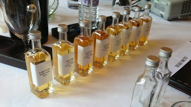 whiskey sample bottles