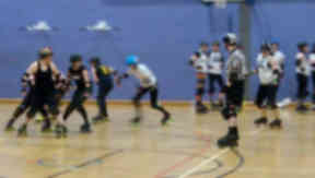 In training: Glasgow Roller Derby is going from strength to strength.