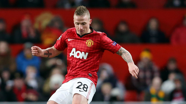Alexander Buttner in action for Manchester United.