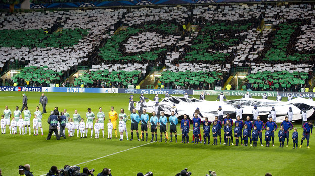 Celtic line up ahead of their game with Barcelona in 2012