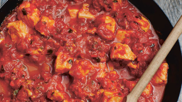 with spicy fish in tangy tomato sauce salmon with spicy tomato last ...