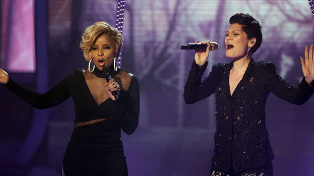 Mary J Blige and Jessie J X Factor 2013.