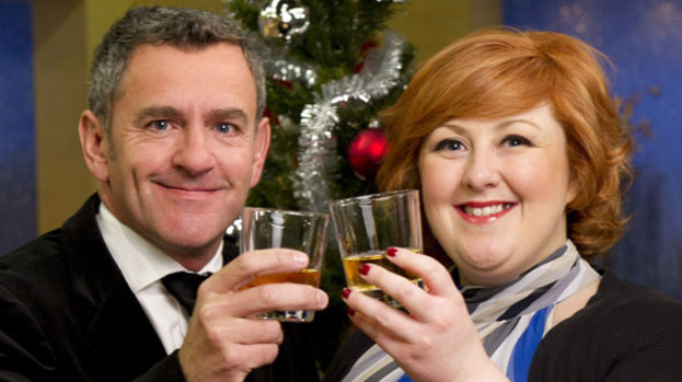 Cheers: Michelle and Stephen are getting festive