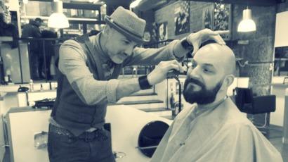 rebel rebel barber in glasgow city centre groom at clutha benefit fundraise stv glasgow glasgow. Black Bedroom Furniture Sets. Home Design Ideas