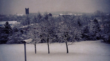 A winter scene in Kilsyth.