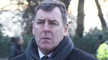 Pat Bonner: Former Celtic goalkeeper attended the funeral service.
