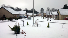 The snow in Brechin.