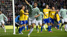 Charlie Mulgrew scored the winner for Celtic in the team's first European match, a 2-1 victory over HJK Helsinki.