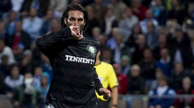 Georgios Samaras makes it 2-0 Celtic in the return leg in Helsinki. Celtic progressed to the play-off stage of the competition after a 4-1 aggregate win.