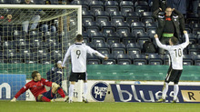 Nicky Clark pulled one back for the Doonhamers but they could not force a replay.