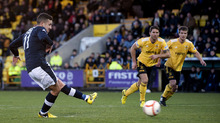 Ryan Conroy's penalty make it two in the first half and there was no way back for Livi.