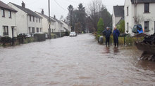 Around 200 residents have been affected by the flooding in Comrie in Perthshire.