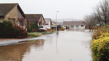 Dochart Place in Comrie was flooded.