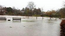 The Ruchil burst its banks.