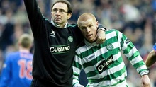 Martin O'Neill and future manager Neil Lennon