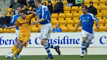 The Motherwell forward grabbed a second after