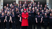 Accompanied by 80 members of the West of Scotland and Edinburgh Garrison Military Wives Choirs.