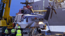 Helicopter ditched into North Sea near Orkney.