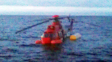 The helicopter ditched in the North Sea
