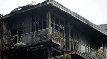 Gutted: Building badly damaged in teh incident