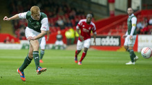 A stunning touch, turn and shot from Eoin Doyle levelled matters at Pittodrie.