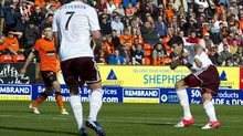 Callum Paterson hit the goal trail for Hearts, striking twice in a 3-0 win over Dundee United